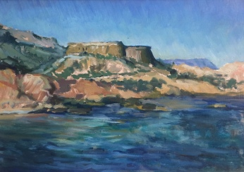 Fort at Rodalquilar 35x25cm £400